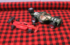 "2 Race Cars~1~HotWheels ""Rare Army Green"" Surplus on Sides ~2~Formula 1 WWMIT953"