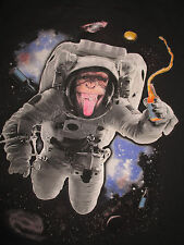MONKEY Astronaut in SPACE ODDESSY (MED) T-Shirt