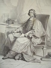 SIÈCLE DE LOUIS XIV / GRAVURE 1840 / FÉNELON