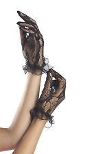 Sexy Be Wicked Black Wrist Length Lace Gloves