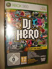 SPIEL XBOX 360 GITARRE DJ HERO KOMPLETT IN ITALIANO X BOX VERSIEGELT