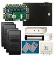 HID 1326 ProxCard II Card 4 Doors Access Control Systems Kit 280kg Magnetic Lock