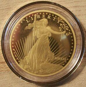 2021 Pure Gold Saint-Gaudens $5 Coin (.9999 Pure Gold)