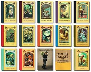 Lemony Snicket FULL SET HARDCOVER 1 - 13 A Series of Unfortunate Events biograph