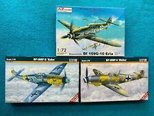 Konvolut  3 x Messerschmitt BF-109 F-2 / F-4 / G-10  1/72  AZmodel + Mistercraft