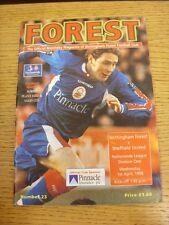 04/03/1998 Nottingham Forest v Sunderland [Championship Season] (Creased). Thank