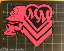 Metal Mulisha Glitter Sticker Pink