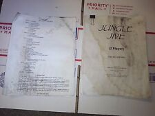 jungle jive arcade manual and instruction papers
