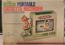 Sesame Street Portable Cassette Recorder 1977