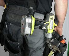 The Gunnie Tool Holder. Cordless Drill, Impact Driver, Screw Gun Tool Belt Hook,