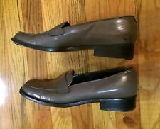 Prada Patent Leather Loafers Driving Shoes Flats 39 Grey Slip On Retro Office