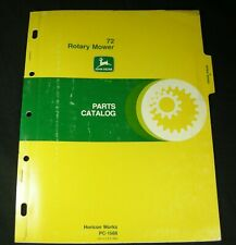 JD John Deere 72 Rotary Lawn Mower Cutter Tractor Parts Manual Book Catalog OEM
