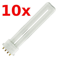 10x 9w 840 4P Socket: 2G7 4000k Cold White, Compact Fluorescent 4-Pin 10-Stück