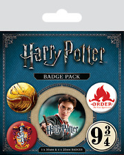 Official Harry Potter Hogwarts Gryffindor Badge Pack Of 5 Novelty Film HP Gift