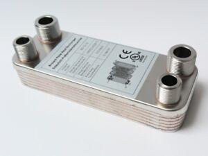 B3-12-12 Edelstahl Plattenwärmetauscher Wärmetauscher bis 25KW pöl Heizung