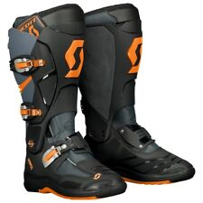 STIVALI BOOTS MOTO CROSS ENDURO SCOTT MX 550 GRIGIO NERO ARANCIO ORANGE TG 44