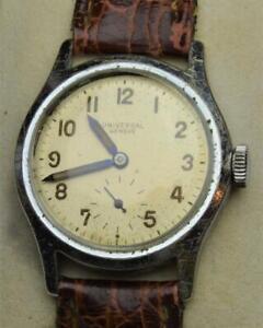 VTG 1940s Universal Geneve Swiss Military Mens 15j Watch cal 260 SERVICED RARE