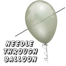 Needle Thru Balloon Professional (with 10 clear balloons) by Bazar de Magia - Tr