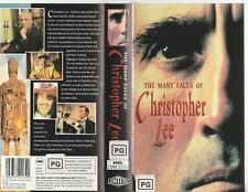 THE MANY FACES OF CHRISTOPHER LEE AS NEW RARE PAL VHS VIDEO