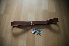 NEU Nudie Jeans Gürtel Leather Belt  FREJ LEATHER BELT BROWN 85 cm
