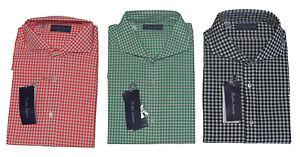 Ralph Lauren Purple Label Italy Mens Button Gingham Keaton Collar Dress Shirt