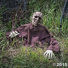HOT Scary Halloween Props Life Size Brain Zombie Ground Breaker Outdoor