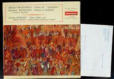 Kodaly Fricsay Praetorius Disque Diapason 1 + lettre d'accompagnement 1966 LP NM