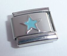 BLUE STAR Italian Charm - Stars Night Sky Space 9mm fits Classic Bracelets E125
