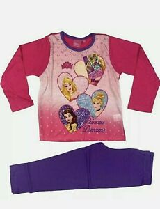 Girls Disney Princess Pyjamas Ages 5 - 6 Official Licenced Long Pyjama Set BNWT