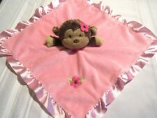 Small Wonders Pink Monkey Flower Rattle Lovey Security Blanket