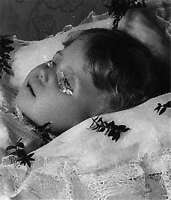 Antique Post Mortem Painted Eyes Photo 530 Oddleys Strange & Bizarre