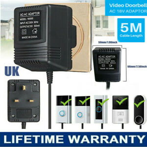 18V AC Power Supply Battery Charger Adapter For Ring Video Doorbell Transformer~