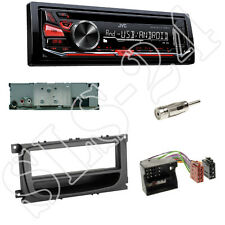 JVC KD-R471 CD/USB Radio FORD Mondeo BA7 Blende+Fach schwarz ISO-u.Antennenadap.