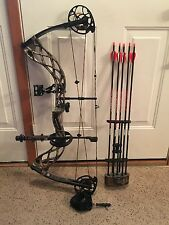 Bowtech Carbon Icon Compound Bow w/ 5 Vforce .245 Sport 400 Field Tipped Arrows