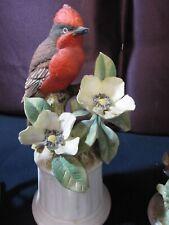 Cardinal and Dogwood on Pedestal