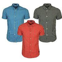 Jack & Jones Mens Slim Fit Casual Designer Checked Short Sleeve Shirt Sizes S-XL