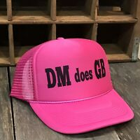 DM does GB Trucker Hat Vintage Style Snapback Party Cap Bright Neon Pink