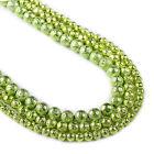 """Green Lava Beads 6 8 10mm round volcanic stone beads 15"""" Full Strand 103033"""