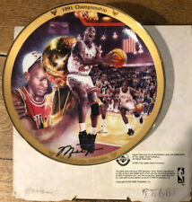 Michael Jordan 1991 Championship Nba Bradford Exchange Vtg 90s Air Chicago Bulls