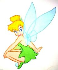 "17"" Disney tinkerbell fairy squatting wall safe fabric decal cut out character"