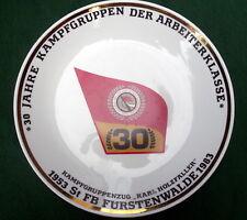 Porzellanteller:30 Jahre Kampfgruppe der Arbeiterklasse St FB Fürstenwalde K.Hol