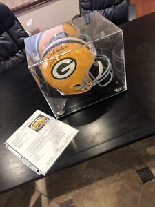 Bart Starr JSA Full Sized Autographed Replica Helmet Riddell With Case