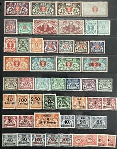 Germany: Free City of Danzig 1923 issues MH