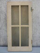 alte einzelne nur Tür Schranktür mit Glas Küchenschrank weiß creme shabby chic