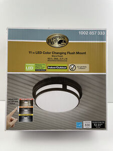 "Hampton Bay 11"" LED Indoor Outdoor Flush Mount Ceiling Light Color Changing"