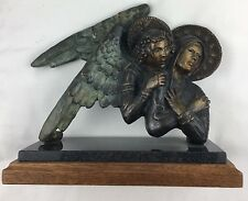 "Angel Bronze L. Kircher, Artist ""Mary and Her Guide"" #41/100  9X9X4"
