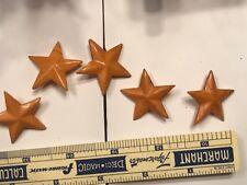 5 Vintage Buttons Bakelite Stars shank rod
