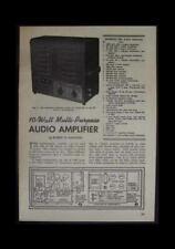 10 watt Tube Amp Audio Amplifier 1950 HowTo build Plans