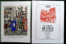 LE VIEUX RENNES EN FLANANT Lucien JEGOU illust. Pierre MAHUT-  Libr. CHEMINANT