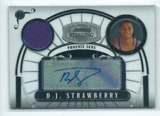 2008-09 Bowman Sterling DJ D.J. Strawberry JERSEY RELIC AUTO RC 46/218 SUNS